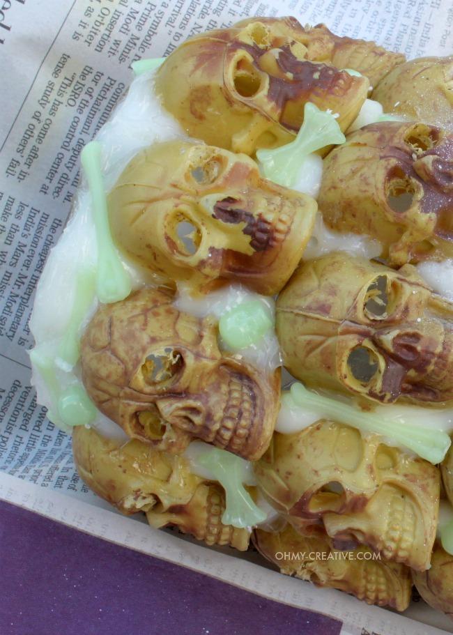 DIY Boneyard Lantern - a Pottery Barn knockoff for Halloween  |  OHMY-CREATIVE.COM