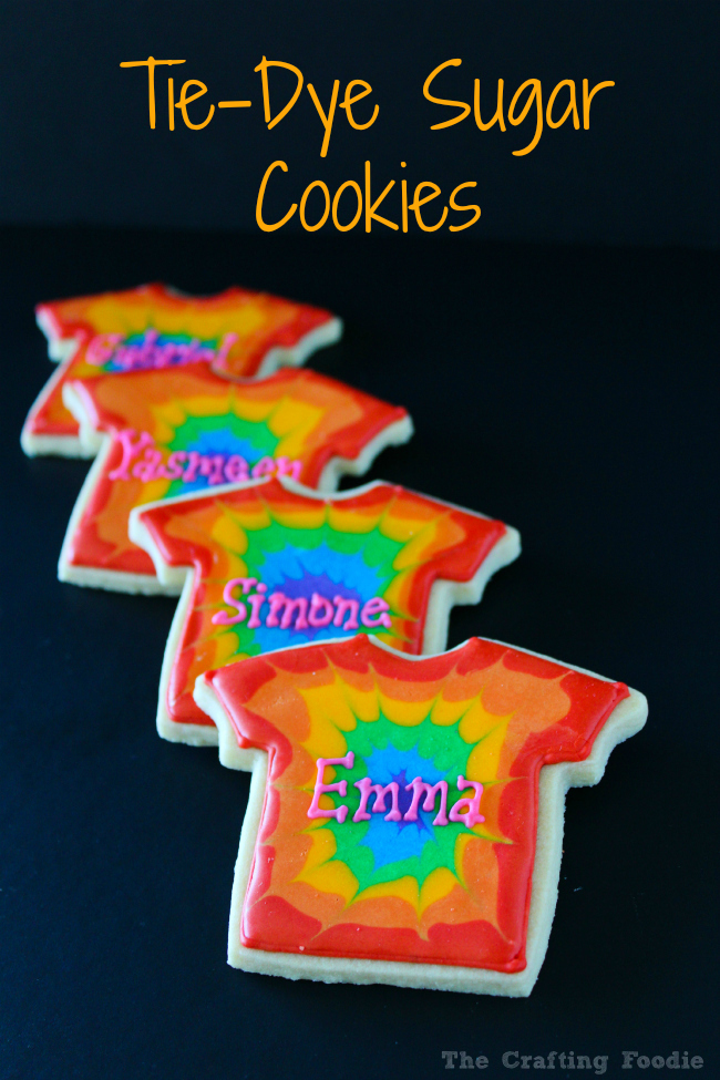 These bright Tie-Dye Sugar Cookies are perfect for that 70's party, kids parties and make a birthday party favor!