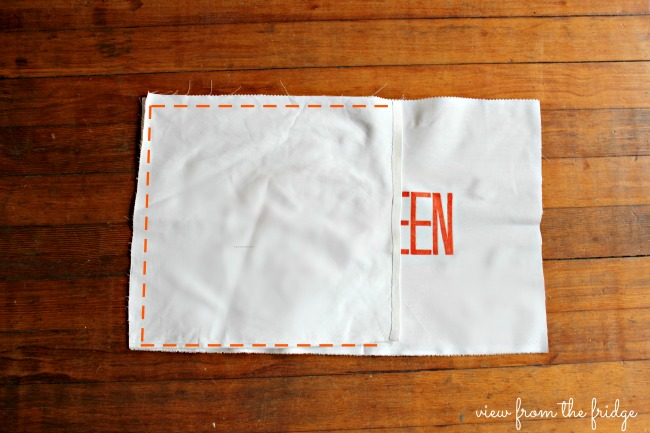 No Sew Happy Halloween Pillow Covers | View From The Fridge for Oh My! Creative