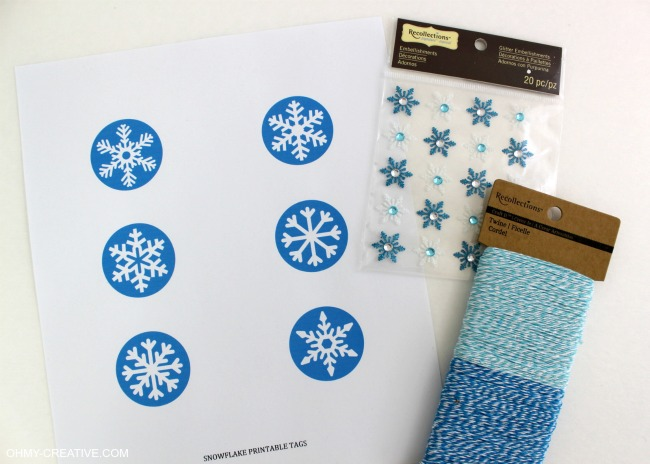 Free Snowflake Pintable and Disney Inspired Frozen Gift Idea | OHMY-CREATIVE.COM