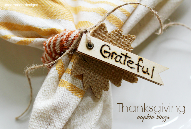 Thanksgiving napkin rings uncommon designs