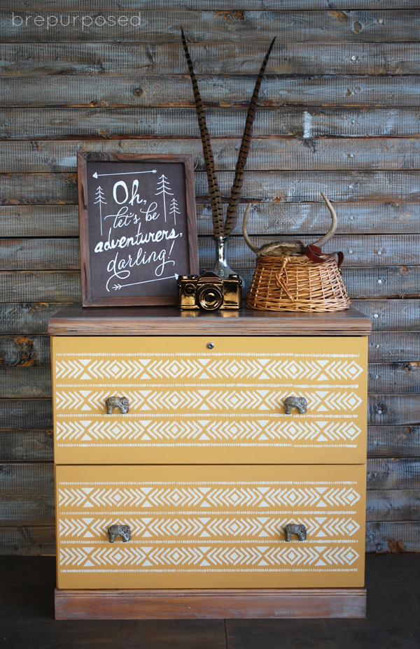 Upcycled Painted Cabinet