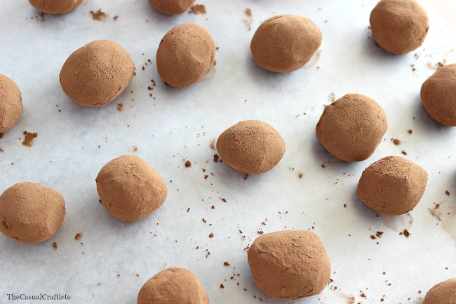 3 Ingredient Chocolate Truffles perfect for holiday entertaining or a cookie exchange!