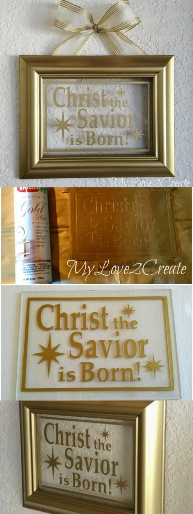 Christ the Savior is Born DIY Christmas Decor  |  My Love 2 Create for OHMY-CREATIVE.COM