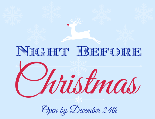 Night Before Christmas Box Printable Label | OHMY-CREATIVE.COM