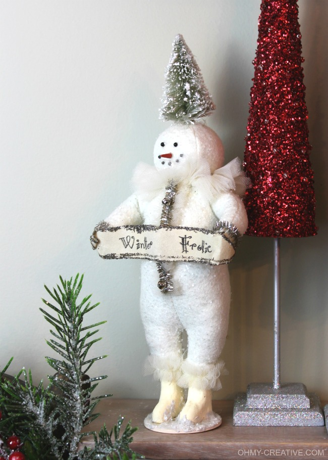 Vintage Snowman  |  OHMY-CREATIVE.COM