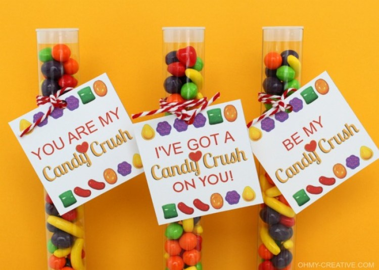 A Free Printable Candy Crush Valentine's Day Gift Tag   OHMY-CREATIVE.COM