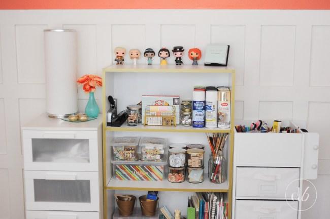 washi tape bookcase style