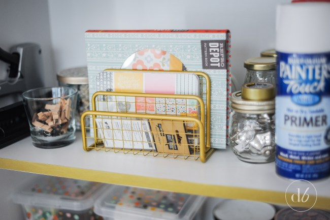 washi tape bookcase