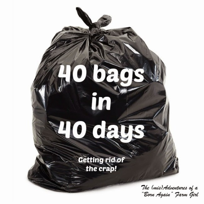 40 Bags in 40 Days - Getting Rid of the Crap