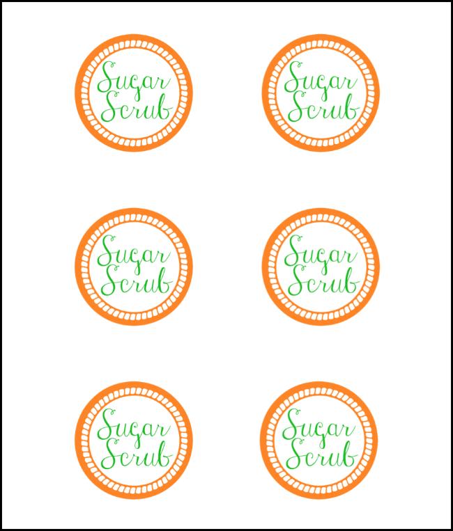 Free Printable Sugar Scrub Labels | OHMY-CREATIVE.COM