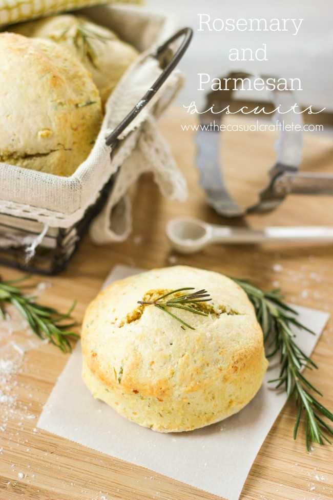 The dough for these Rosemary and Parmesan Biscuits is easy to make and can be made in 30 minutes - a nice addition to any brunch menu or hearty dinner. #biscuitrecipe #brunchrecipe #rosemaryParmesanbiscuits #dinnerbiscuits