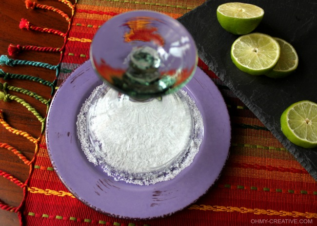 Salted Rim for Moscow Mule Margarita  |  OHMY-CREATIVE.COM
