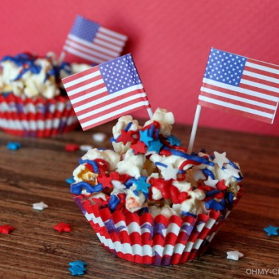 Stars And Stripes Patriotic Popcorn