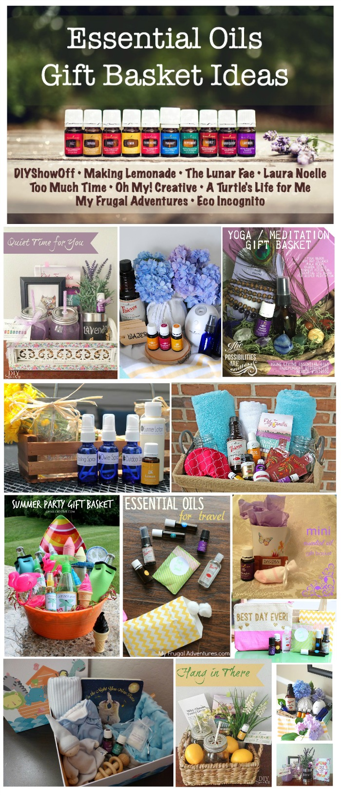 What perfect way to share your love for essential oils than to give them as gifts. Here you will find great ways to create an Essential Oils Gift Basket for many occasions!   |   OHMY-CREATIVE.COM