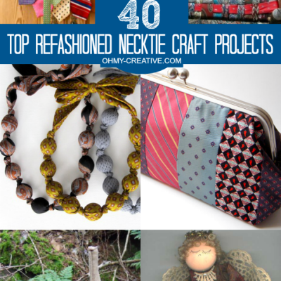 40 Top Refashioned Necktie Craft Projects