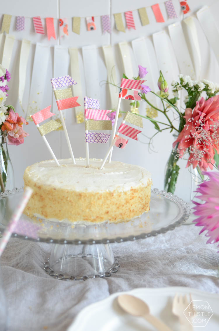How to make DIY washi tape party decorations