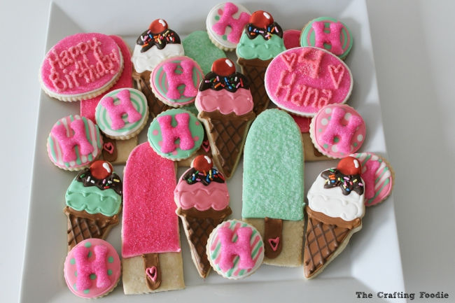 Ice Cream Decorated Cookies
