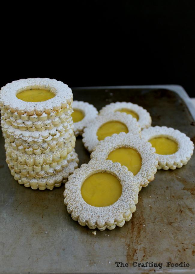 Lemon Poppy Seed Linzer Cookies|The Crafting Foodie