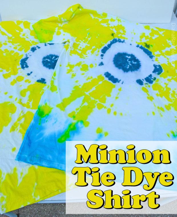 Minion Tie-Dye Shirt Tutorial