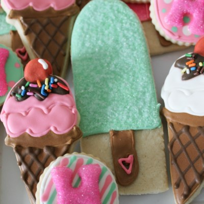 Ice Cream Decorated Sugar Cookies