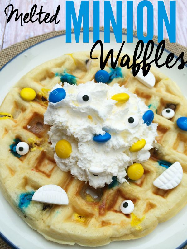melted Minion Waffle breakfast recipe