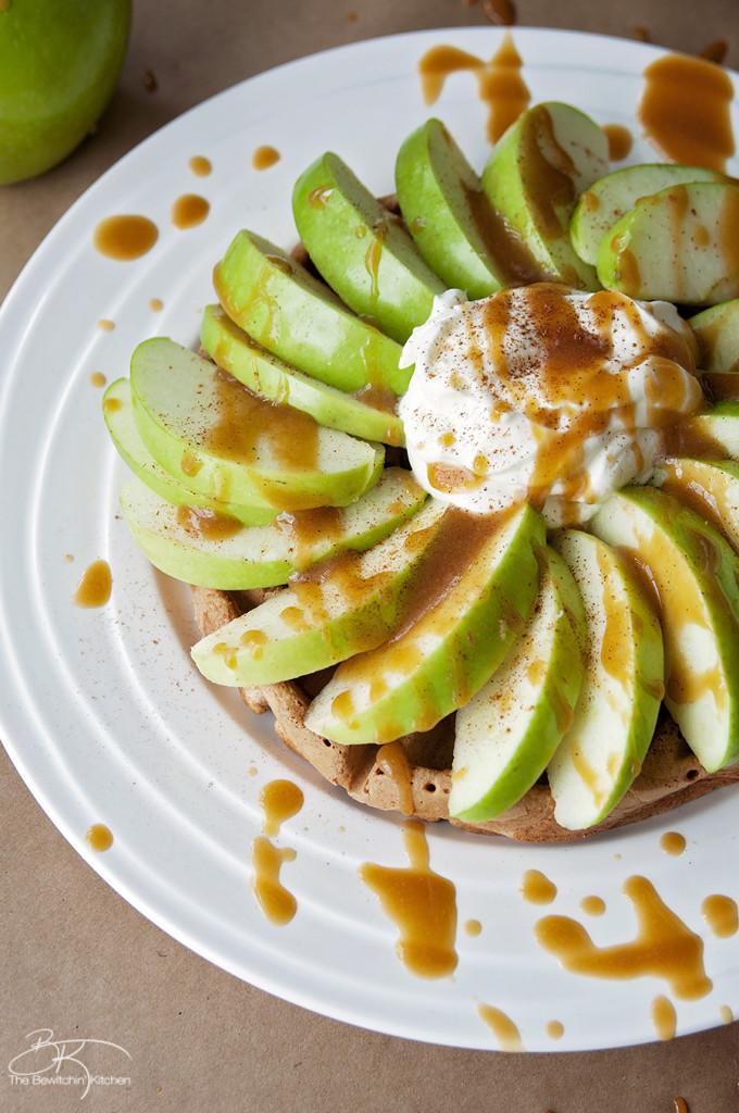 Caramel apple waffle recipe
