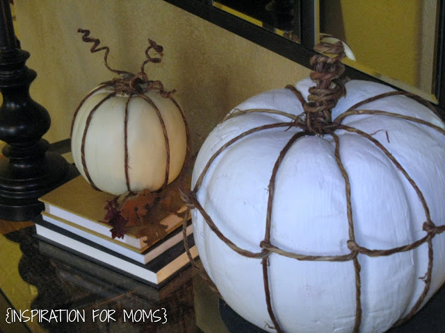 Pumpkins with Grapevine accent