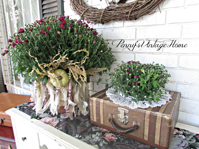 Vintage suitcase for fall decor