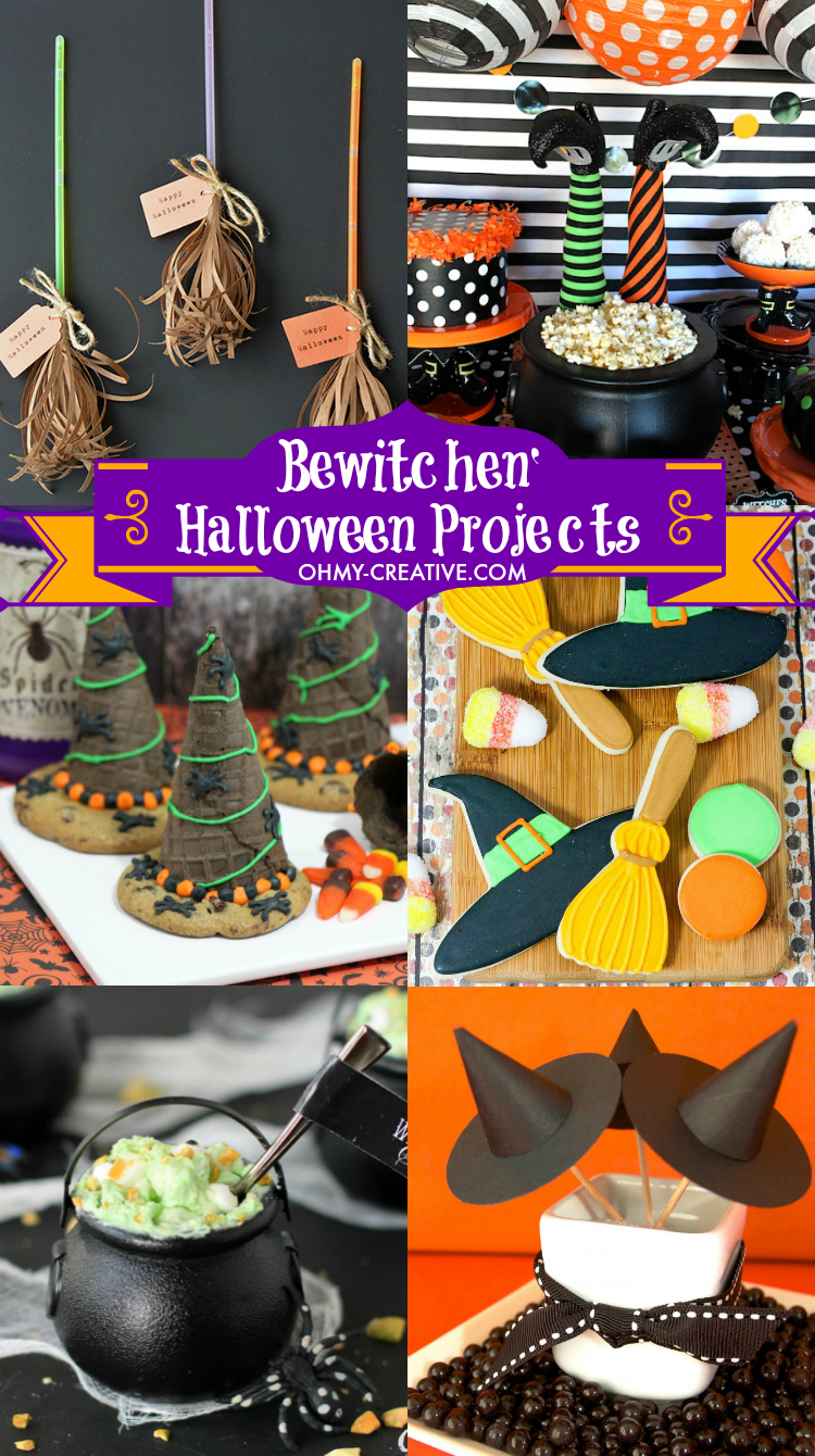 Bewitchen Halloween Projects perfect for Halloween parties, classroom treats and a few for decorating the home! | OHMY-CREATIVE.COM
