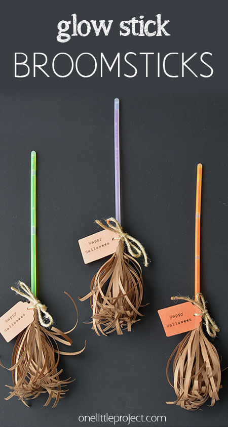 Glow Stick Halloween Witch Broom Sticks
