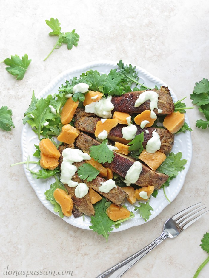 Vegetarian sweet potato gnocchi with portobello and kale are perfect for meatless Mondays or any day of the week. Packed with all veggies like kale, portobello mushroom, sweet potato and avocado. Couple healthy ingredients and you can have yummy dinner in 40 minutes I OhMy-Creative.com