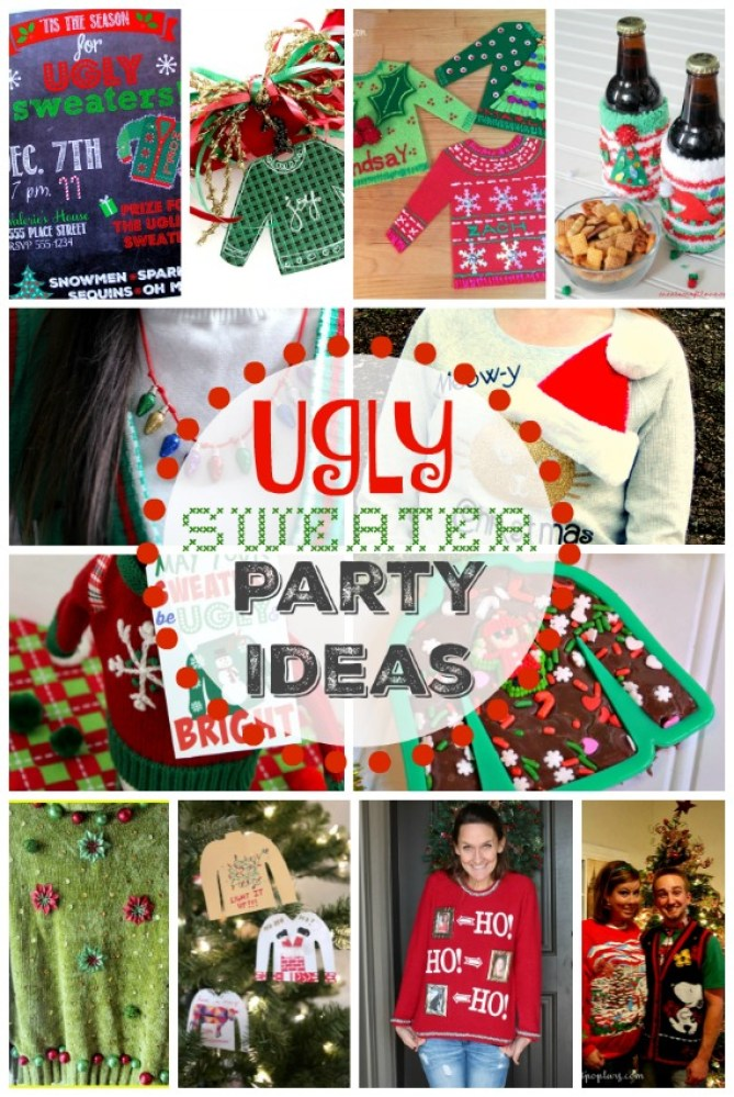 13 Ugly Sweater Party Ideas from top bloggers | OHMY-CREATIVE.COM