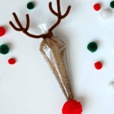 Homemade Rudolph Sugar Scrub Gift