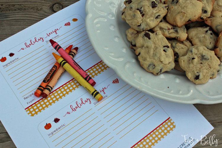 Thanksgiving Recipe Cards Printables   Printable Recipe Cards   Recipe Card Template   Recipe Template   Thanksgiving Recipe    OHMY-CREATIVE.COM