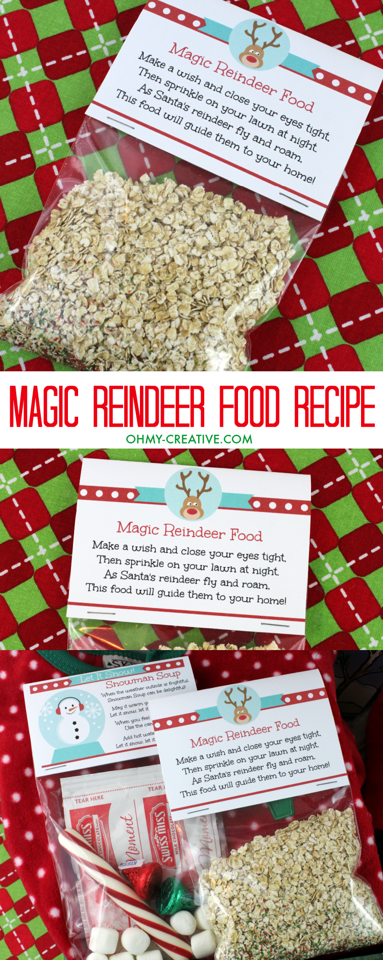 graphic about Reindeer Food Printable called Magic Reindeer Food items Recipe and Printable - Oh My Innovative