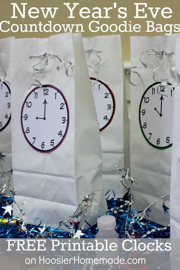 new years eve printable countdown bags
