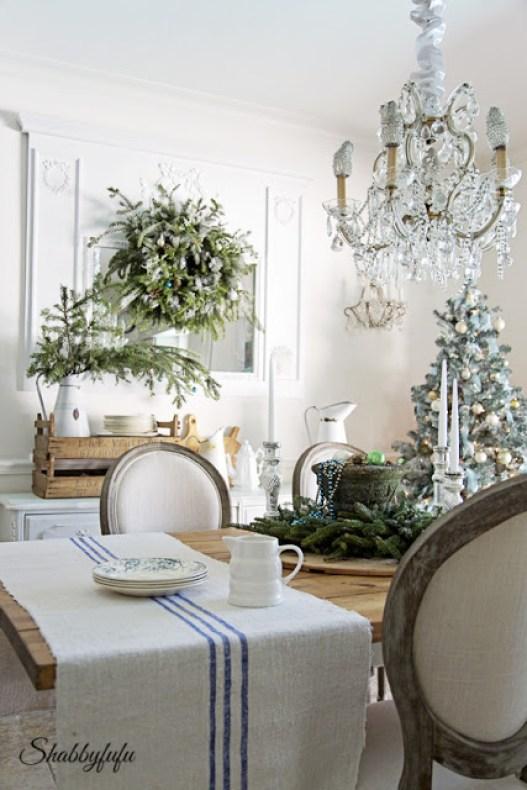 Shabbyfufu dining room for Christmas