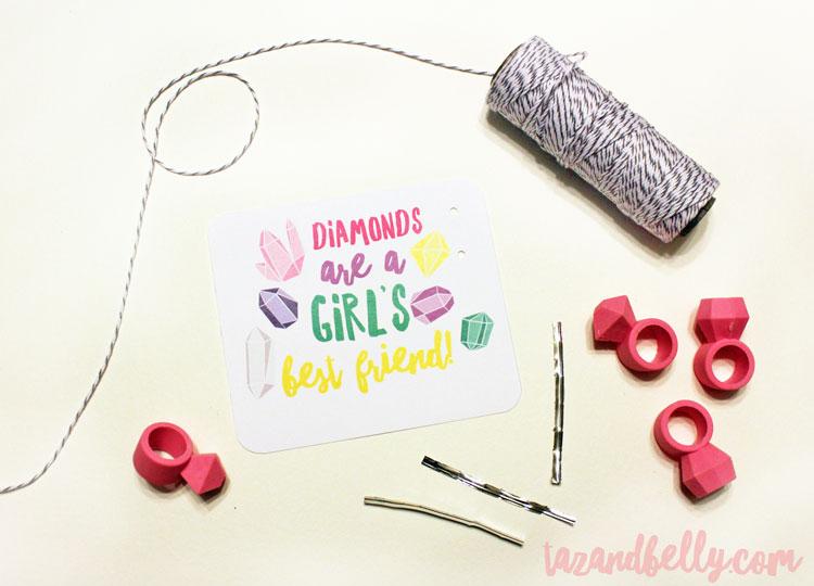 DIY Diamond Ring Valentines | ohmy-creative.com