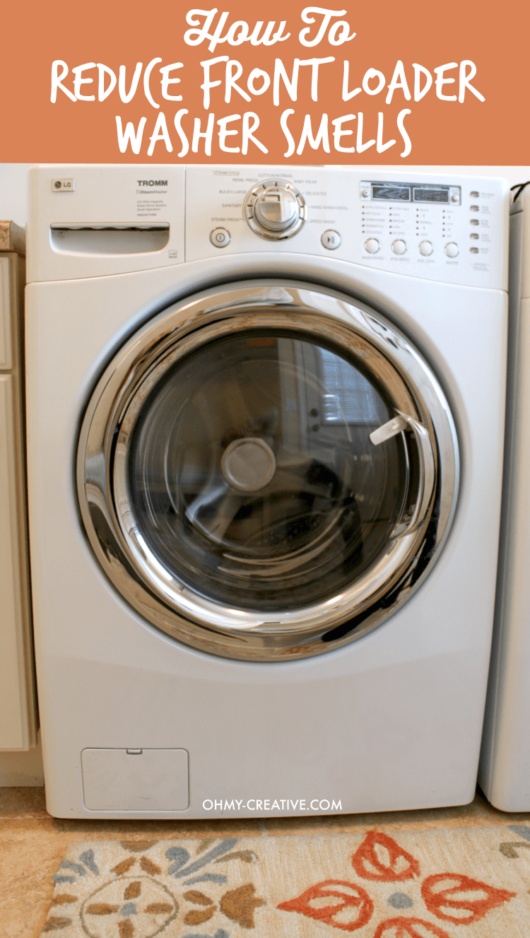 Great washers - awful smell! See my simple tip on How To Reduce Front Loader Washer Smells | OHMY-CREATIVE.COM