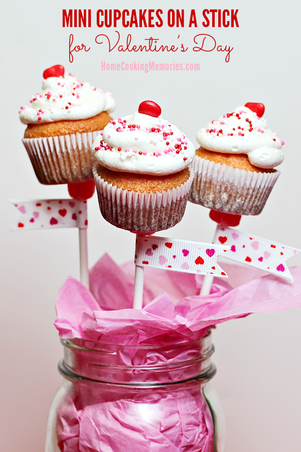 Mini Cupcakes on a Stick or Valentines Day