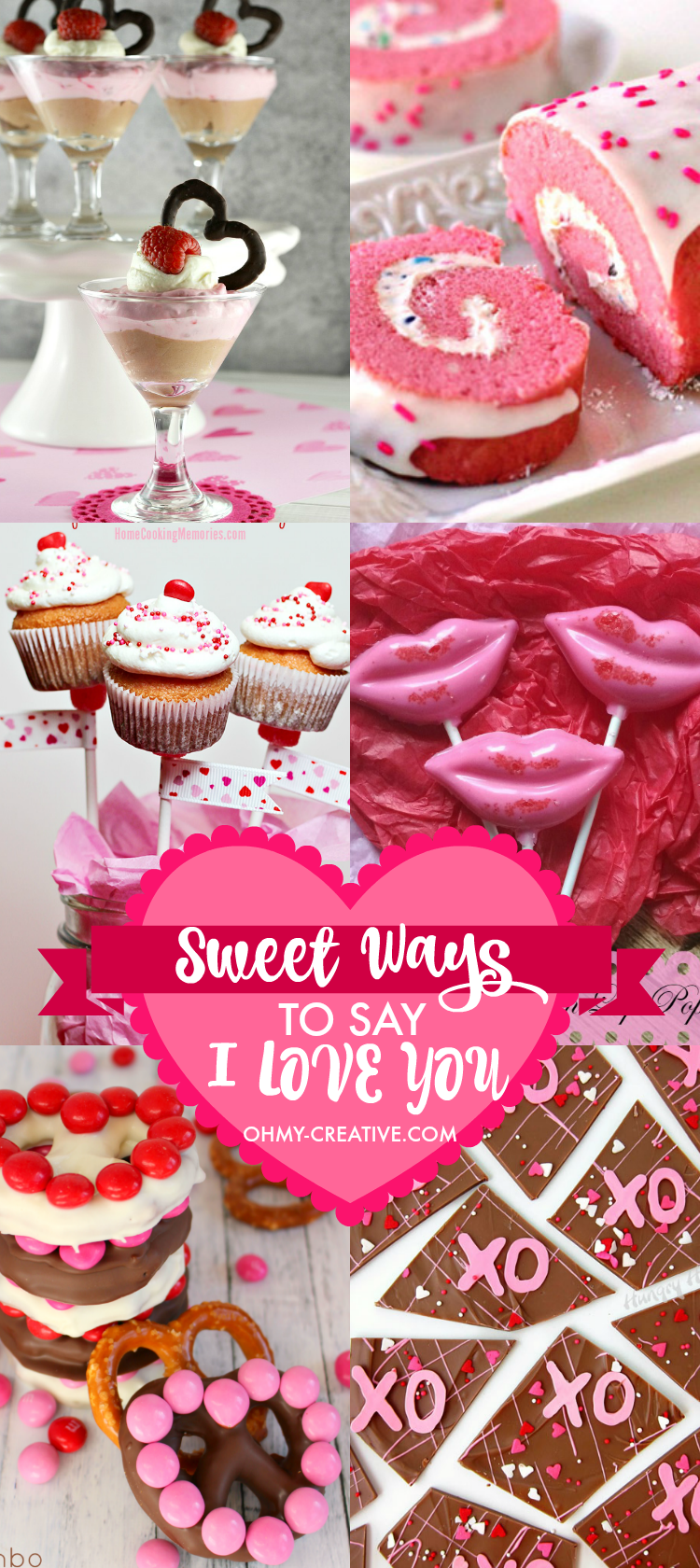 So many ways to show the love to your sweetheart, friends and kids with these Sweet Ways to Say I Love You on Valentine's Day | OHMY-CREATIVE.COM