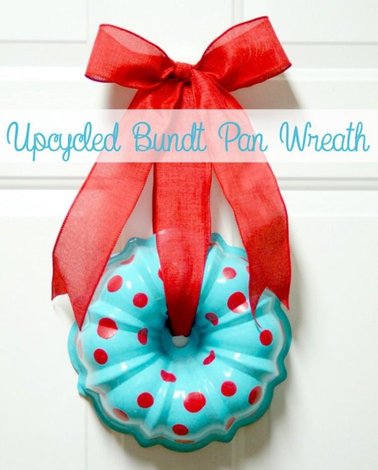 Upcycled Bundt Pan Wreath