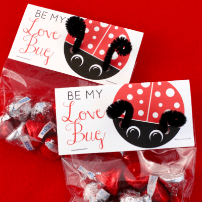 Love Bug Printable Valentine's Day Cards