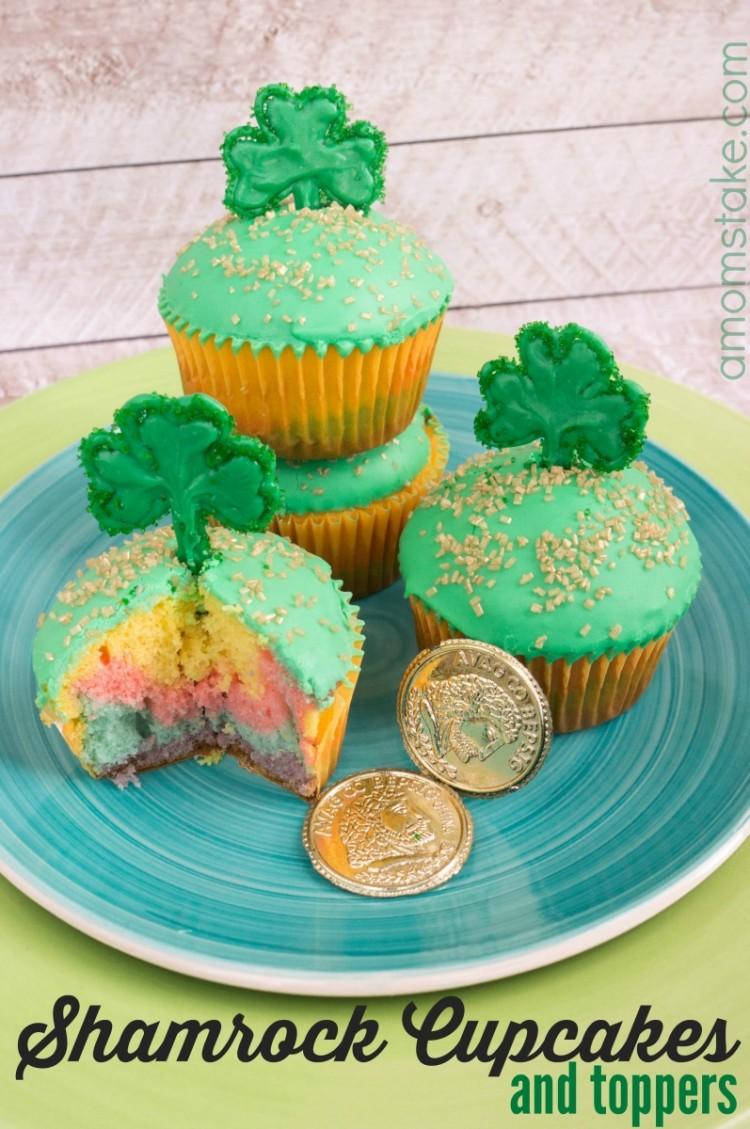 Shamrock Rainbow Cupcakes