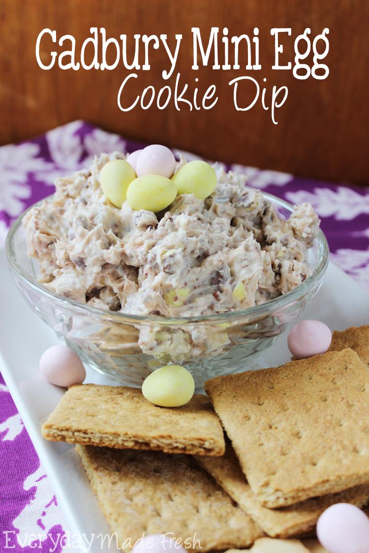Cadbury Mini Egg Cookie Dip for Easter