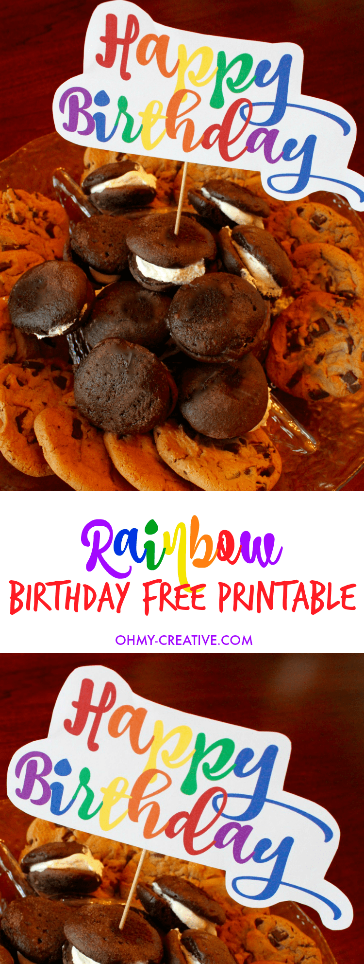 Free Rainbow Happy Birthday Printable Oh My Creative