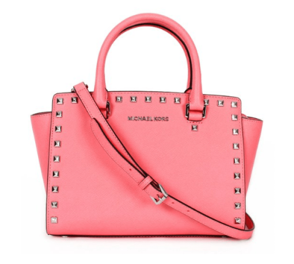 MICHAEL Michael Kors Women's Selma Stud Medium Top Zip Satchel - Don't know what to get for mom this Mother's Day? Here are a few Pretty Gifts For Mom on Mother's Day she will love! | OHMY-CREATIVE.COM