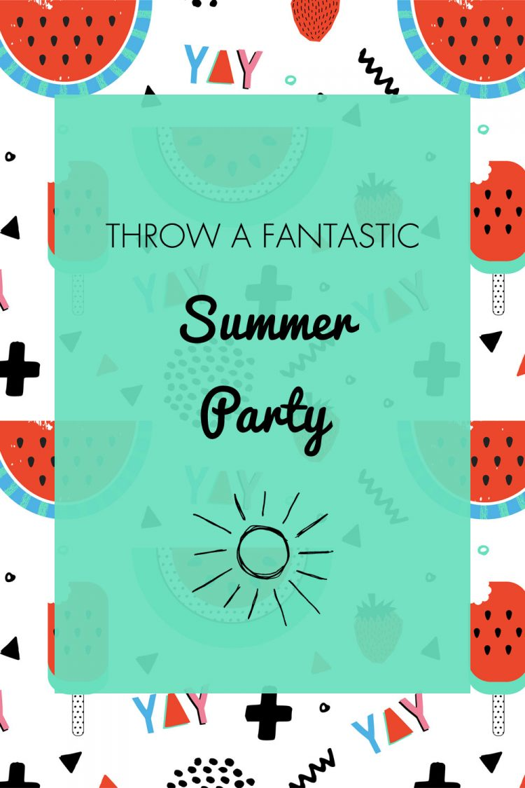 How to throw a fantastic summer party with fun party tips, free printables and summer party invitations for you to get your summer party off to a roaring start. Cute watermelon summer party ideas | OHMY-CREATIVE.COM