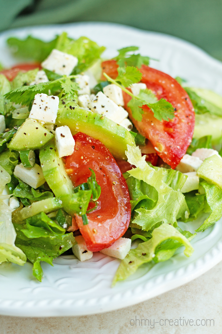Tomato Cucumber Salad with Feta